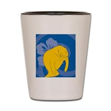 Manatee Heart Pet Tag Shot Glass