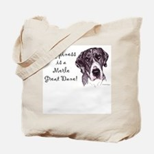 Happiness is a Merle Dane Tote Bag