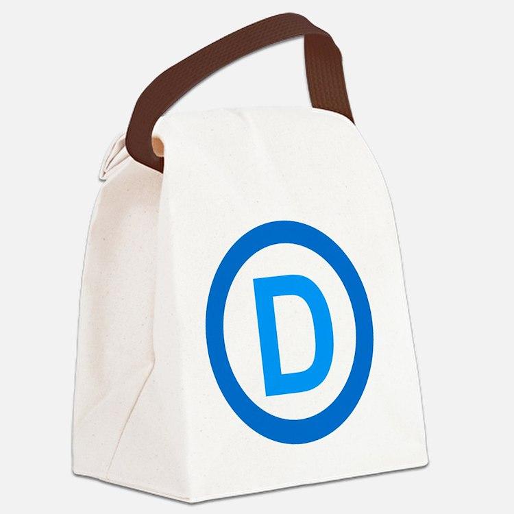 Democratic D Design Canvas Lunch Bag