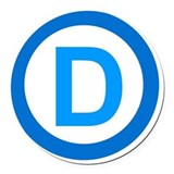 Democrat Round Car Magnets