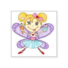 """Cupcake Fairy Square Sticker 3"""" x 3"""""""