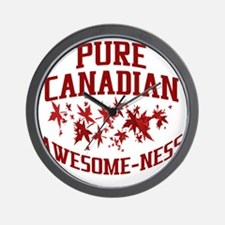 Pure Canadian Awesome-Ness Wall Clock