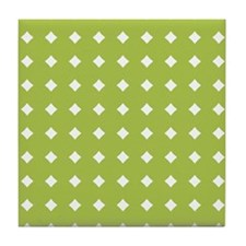 Diamonds_Green_Large Tile Coaster