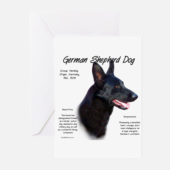 Black GSD Greeting Cards (Pk of 10)