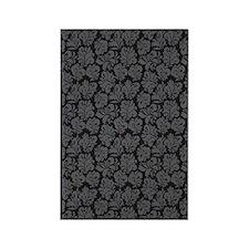FlourishLeaves_Grey_Large Rectangle Magnet