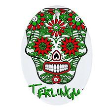 Terlingua Chili Pepper Sugar Skull Oval Ornament