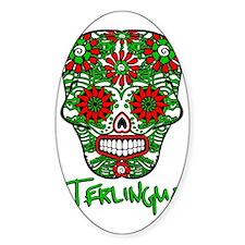Terlingua Chili Pepper Sugar Skull Decal