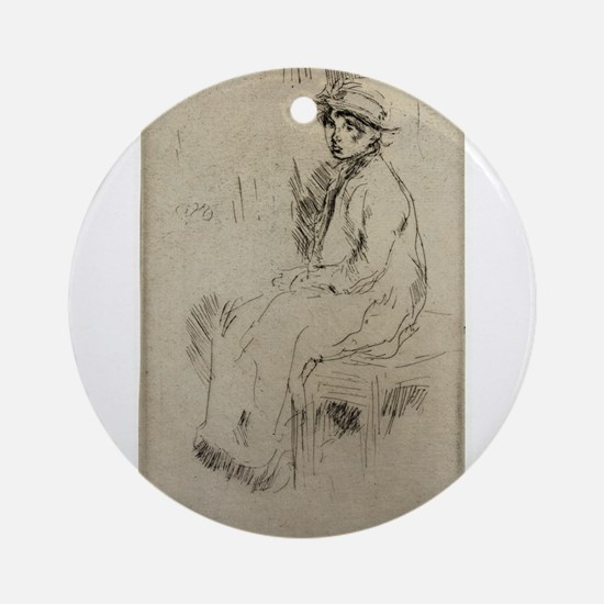 Nora Quinn - Whistler - c1880 Round Ornament
