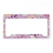 FlowerBotanical_Lilac_Large License Plate Holder