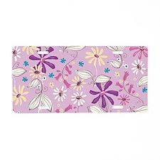 FlowerBotanical_Lilac_Large Aluminum License Plate