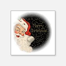 "Vintage Santa Claus Square Sticker 3"" x 3"""