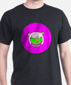 Alien Neko Badge T-Shirt