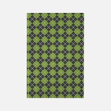 Argyle_Green1_Large Rectangle Magnet