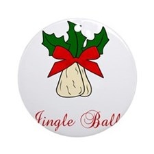 Jingle-Balls Round Ornament