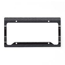TexturedStripes_Black_Large License Plate Holder