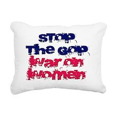 War on Women Rectangular Canvas Pillow
