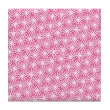 FlowerLoop_Pink1_Large Tile Coaster
