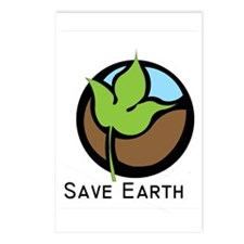 Save The Earth Logo Postcards (Package of 8)