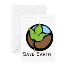 Save The Earth Logo Greeting Card