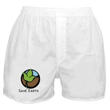 Save The Earth Logo Boxer Shorts