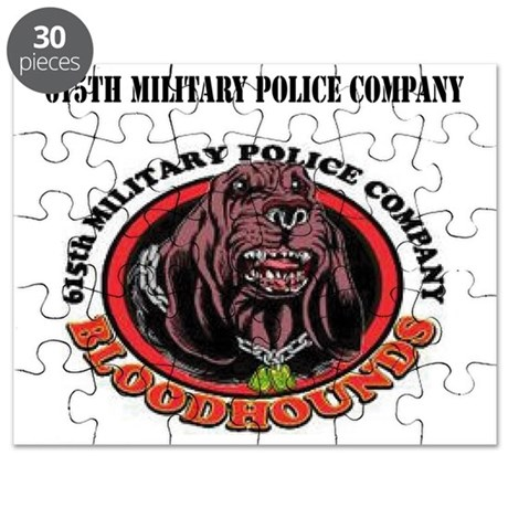 615th Military Police Company with Text Puzzle
