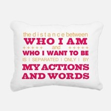 My Actions and Words Pin Rectangular Canvas Pillow