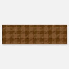Plaid_Brown1_Large Sticker (Bumper)