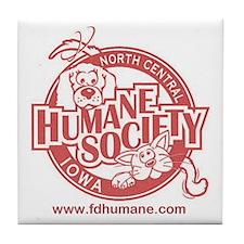 Funny Humane society Tile Coaster