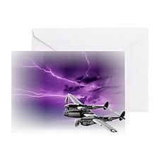 P 38 Lightning Greeting Card