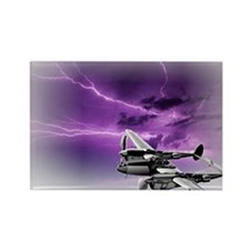 P 38 Lightning Rectangle Magnet