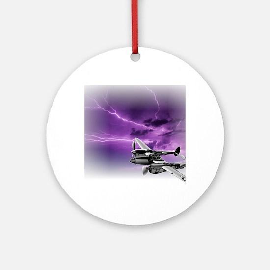 P 38 Lightning Round Ornament