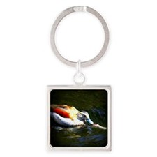 Duck Love Square Keychain