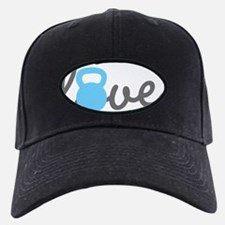 Love Kettlebell Blue Baseball Hat