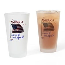 America Love It or Leave it Drinking Glass