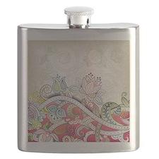 Vintage Floral Pattern Flask