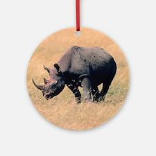 Rhinoceros Round Ornament