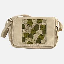 Leaf Pattern Messenger Bag