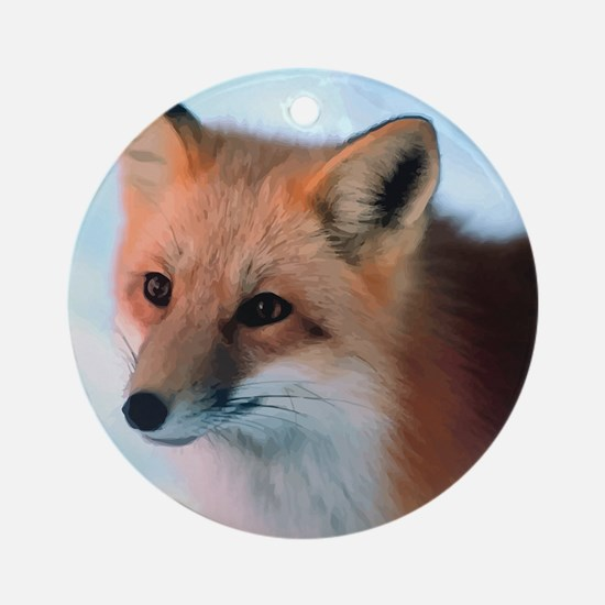 Cute Fox Round Ornament