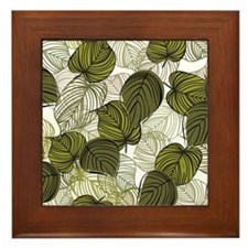 Leaf Pattern Framed Tile