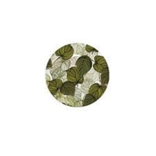 Leaf Pattern Mini Button