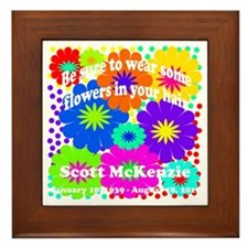 Be sure to wear some flowers Framed Tile
