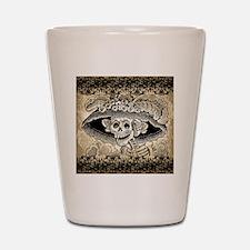 Vintage Catrina Calavera Shot Glass