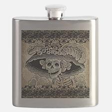 Vintage Catrina Calavera Flask