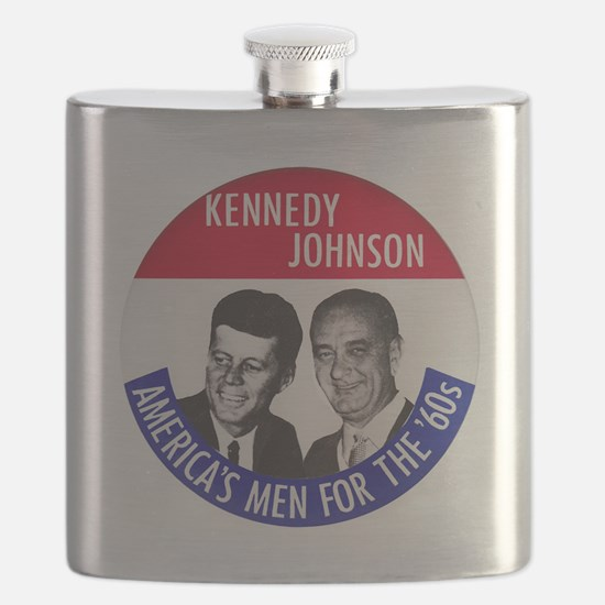 KENNEDY / JOHNSON Flask