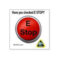 """e-stop Square Sticker 3"""" x 3"""""""