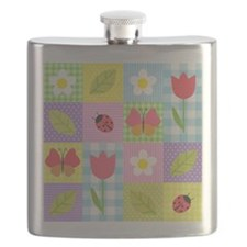 Colorful Patchwork Flask