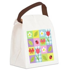 Colorful Patchwork Canvas Lunch Bag