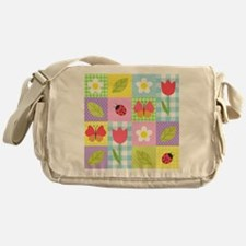 Colorful Patchwork Messenger Bag