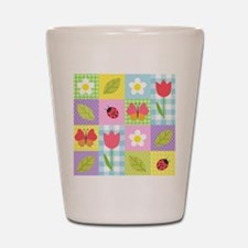 Colorful Patchwork Shot Glass