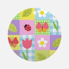 Colorful Patchwork Round Ornament